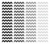 Tile vector chevron pattern set with white and grey zig zag background — Stock Vector