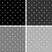Kakel svarta, vita och grå vektor mönster eller bakgrund med små prickar — Stockvektor
