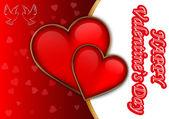 Invitation or greeting card to Valentines Day- vectors — Stockvektor