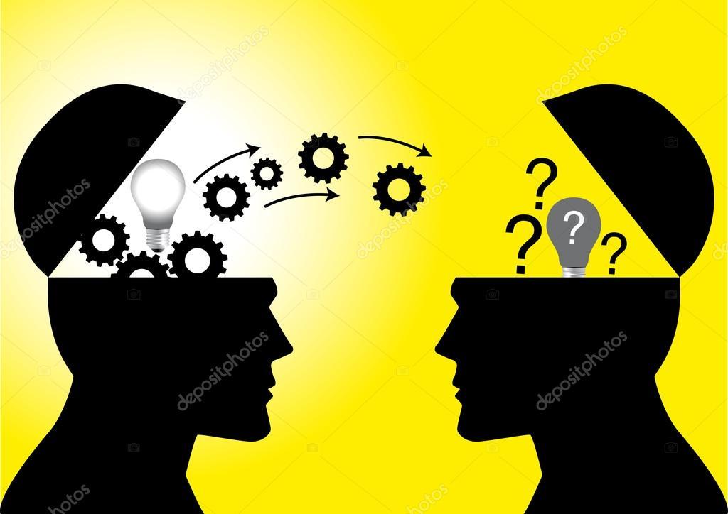 Conocimientos o la transferencia de Ideas– Ilustración de Stock