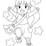 Happy Little Girl — Stock Vector #52313147