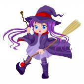 Cute Witch — Stock Vector