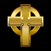 Golden Cross — Wektor stockowy