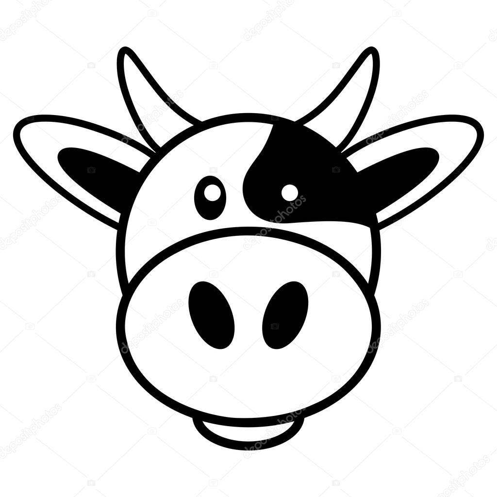 Desenho simples de uma vaca bonito — vetores stock