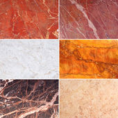 Set of Marble Texture Background — Stock Photo