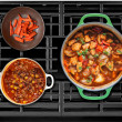 Cooked Food on a Gas Stove — Stock Photo #63027059