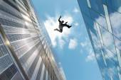 Man Jumping Over the Roof — Stock Photo