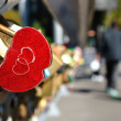 Red Heart Shaped Lock Concept of Love — Stock Photo #70998201