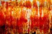 Abstract orange rusty zinc as texture and background — Stock Photo