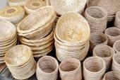 Wicker  wood   baskets — Stock Photo