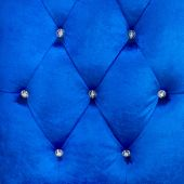 Buttoned on the blue Texture. Repeat pattern — Foto de Stock