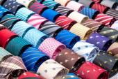 Neck ties in the market — Stock Photo