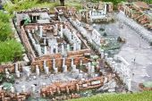 Excavations of Pompei in miniature Park, Rimini — Stock Photo