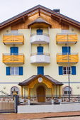 Typical alpine police barracks, Italy — Stock Photo