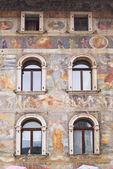 Facade of an ancient building, Trento — Stock Photo