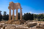 Temple of the Dioscuri, Agrigento — Stock Photo