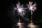 Fogos de artifício em forte dei marmi — Fotografia Stock