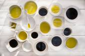 Pans with oil and vinegar  — Stock Photo