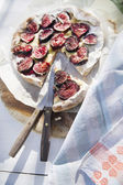 Focaccia with figs  — Stock Photo