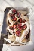 Focaccia with figs  — Foto Stock