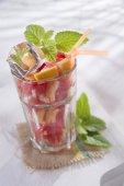 Drink red grapefruit  — Fotografia Stock