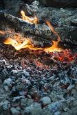 Wood burning phase  — Stock Photo