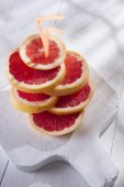 Slices of red grapefruit  — Stock Photo