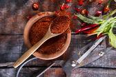 Pimenta em pó — Fotografia Stock