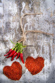 The heart of chilli — Stock Photo