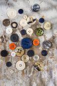 Vintage button — Stock Photo