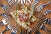 Pappardelle with meat sauce — Stockfoto