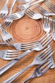 Sets of forks — Stock Photo