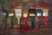 Kleur borstels — Stockfoto