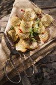 Focaccia s bramborami — Stock fotografie