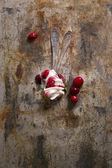 Ice cream with cherries — Stock Photo