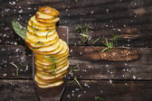 Gebratene kartoffel — Stockfoto