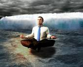 A serene businessman. The calm before the storm concept. — Stock Photo