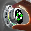 Concept of a button adjusting and maximizing the recycling. — Stock Photo #55759097