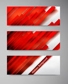 Vector banner set . — Stock Vector