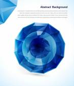 Vector abstract gem and blue ice — Stock Vector