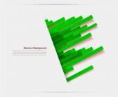 Vector banner background green lines — Stock Vector