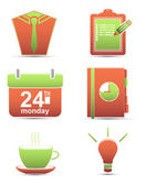 Vector set icons. time management business — 图库矢量图片