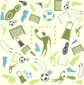 Sport and handball. — Stock Vector