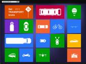 Vector Set of transport icons navigator — Stockvektor