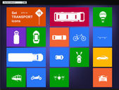 Vector Set of transport icons navigator — Stok Vektör