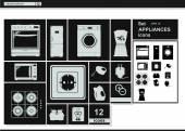 Vector collection icons. — Stok Vektör