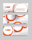 Vector banner blank circles — Stock Vector