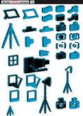 Vector set web icons camera — Stock Vector