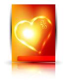 Vector paper orange valentines — Stock Vector
