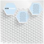 Vector abstract background Hexagon — Stock Vector